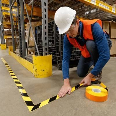 Floor marking guide book - Organise your workplace. Effective floor marking, colour codes, etc.