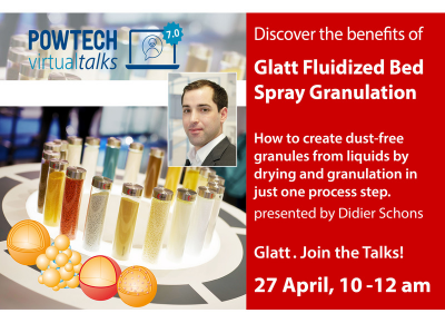 Creating dust-free granules by drying and granulating liquids in just one process step