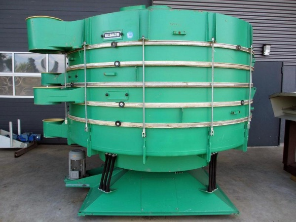 Allgaier TSM 2600/5 for sale at Surplus Select 5-deck tumbler screener for sorting into 6 fractions