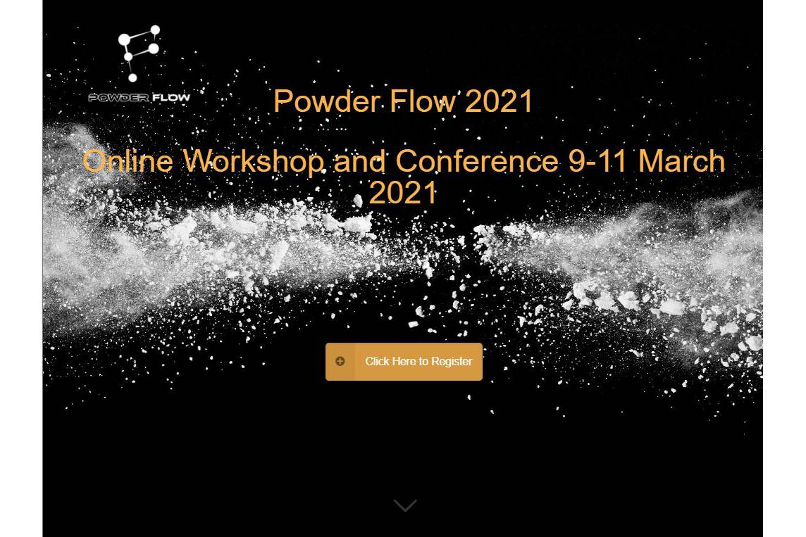Presentation Wolfson Centre at Powder Flow 2021 The Wolfson Centre for Bulk Solids Handling Technology will be presenting a paper at Powder Flow 2021.  And have a `remote` stand to be able to answer your questions