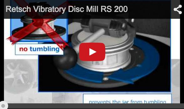 Sample prep to spectral analyses, fast and reproducible RETSCH's New Vibratory Disc Mill RS 200