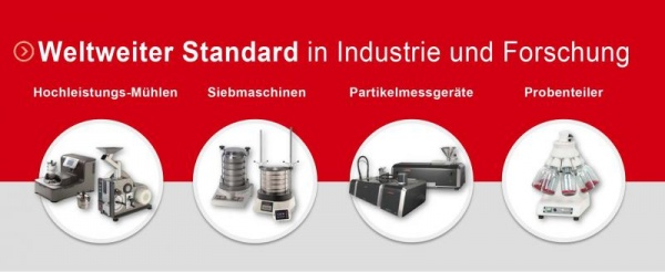 Innovations at POWTECH 2016 - Hall H2 • Stand 218 FRITSCH innovations in the field of particle sizing and size-reduction