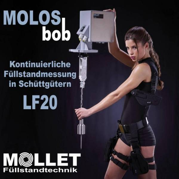 MOLOSbob level measurement devices from MOLLET Füllstandtech Reliable level measurement in bulk solids with measuring devices of the MOLOSbob series