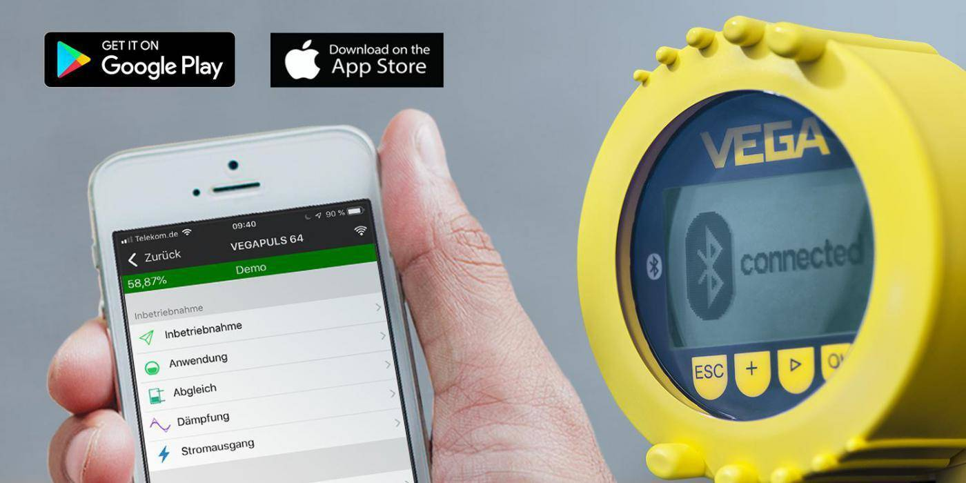 Getting your sensor data faster with VEGA Tools app The practical tool for simple, wireless adjustment of VEGA instruments
